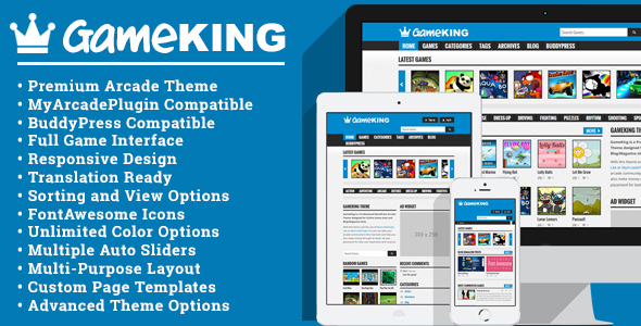GameKing WordPress Theme